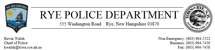 Rye Police Department, NH Police Jobs