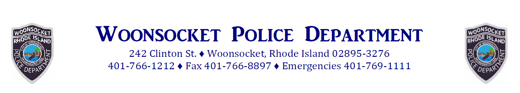 Woonsocket Police Department, RI Police Jobs