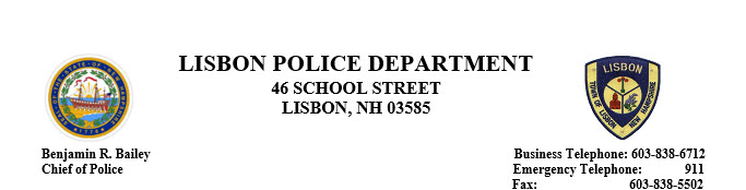 Lisbon Police Department, NH Police Jobs