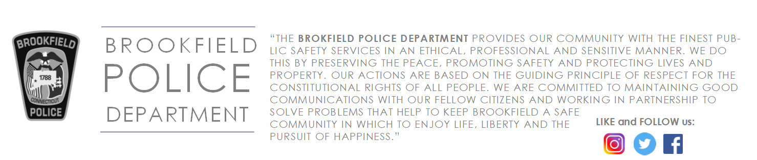 Brookfield Police Department, CT Police Jobs