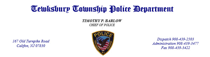 Tewksbury Township Police Department, NJ Police Jobs
