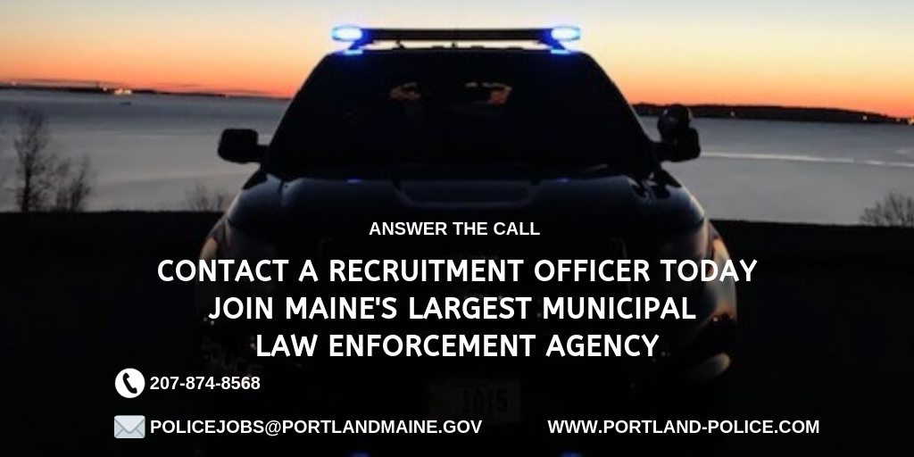 Portland Police Department, ME Police Jobs
