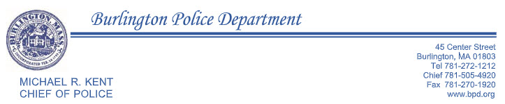 Burlington Police Department, MA Police Jobs