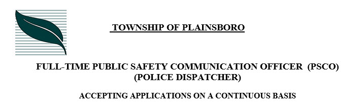Plainsboro Township Nj Police Jobs  Dispatcher  Policeapp