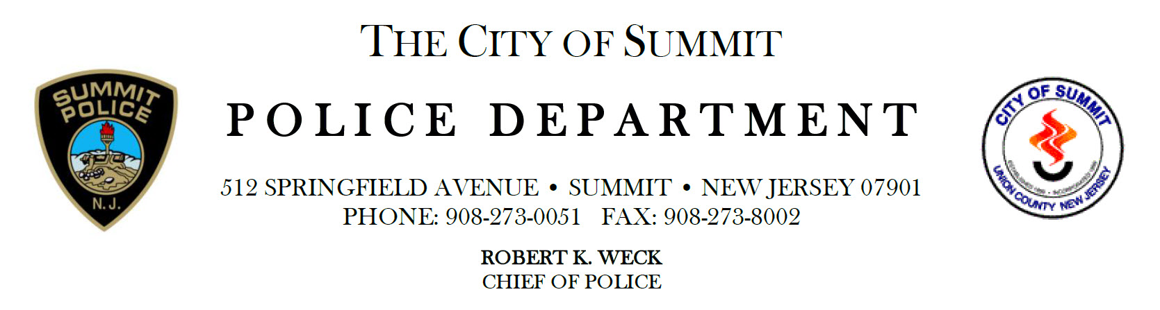 Summit Police Department, NJ Police Jobs