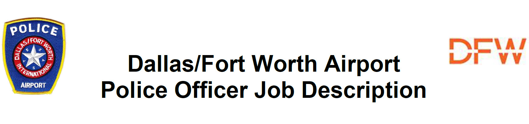 Dallas Fort Worth Airport of Public Safety, TX Police Jobs