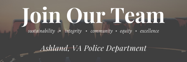 Ashland Police Department, VA Police Jobs
