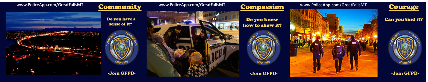 Great Falls Police Department, MT Police Jobs