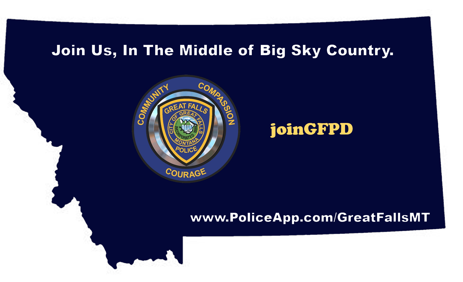 Great Falls, MT Police Jobs - Certified | PoliceApp